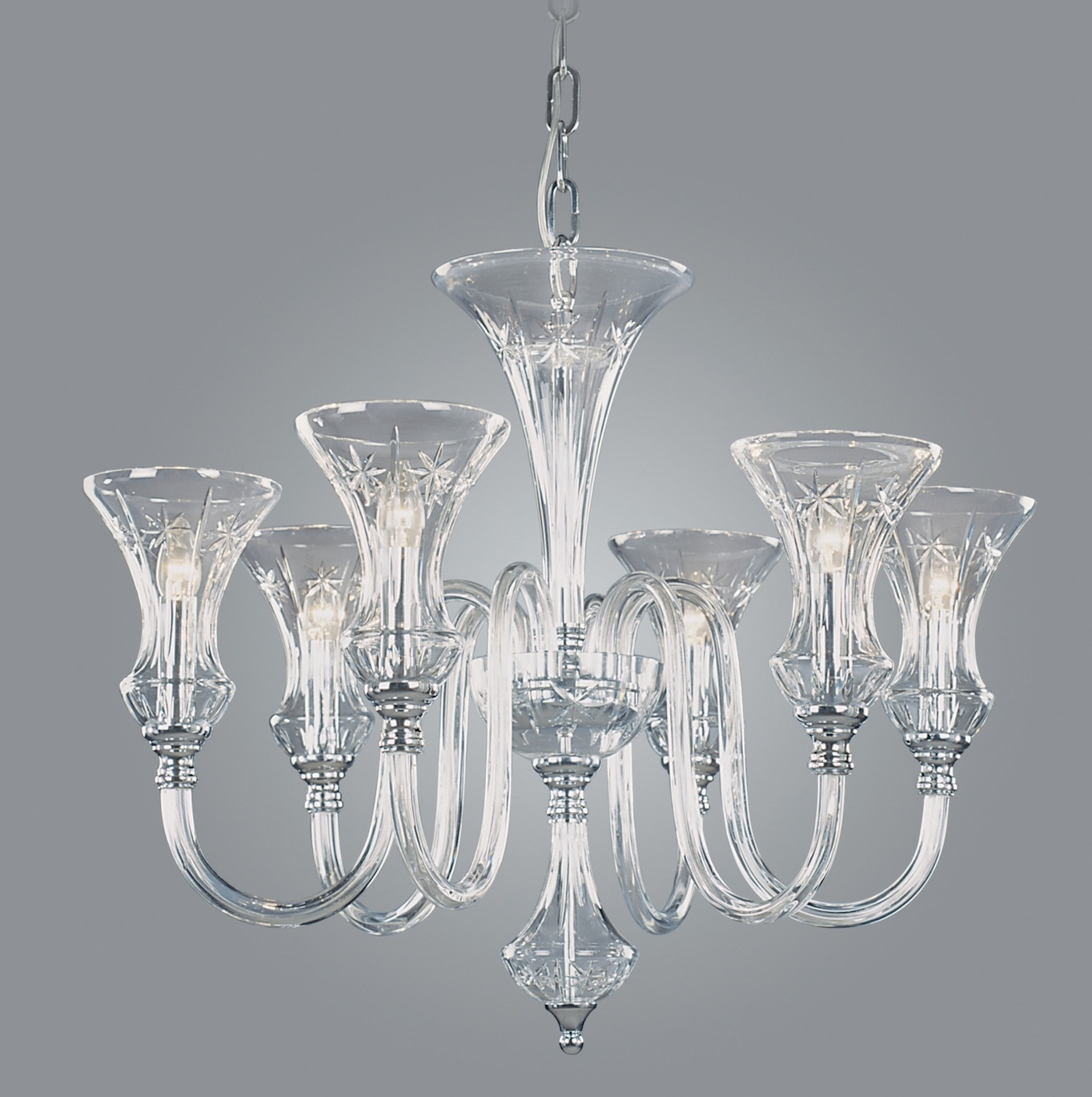 Modern Glass Chandelier Lighting Within Small Glass Chandeliers (Image 8 of 15)