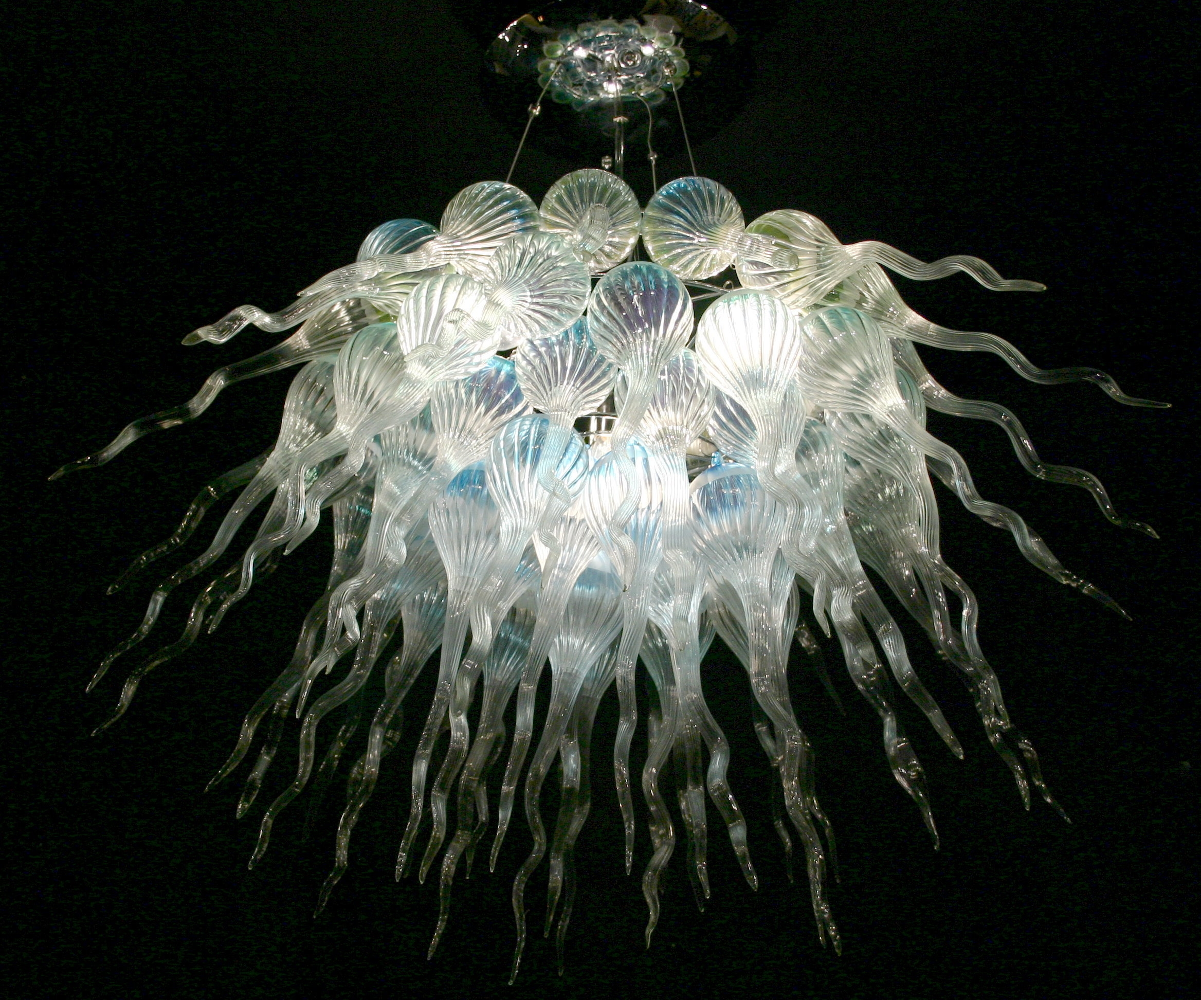 Modern Glass Chandeliers Regarding Modern Italian Chandeliers (Image 11 of 15)