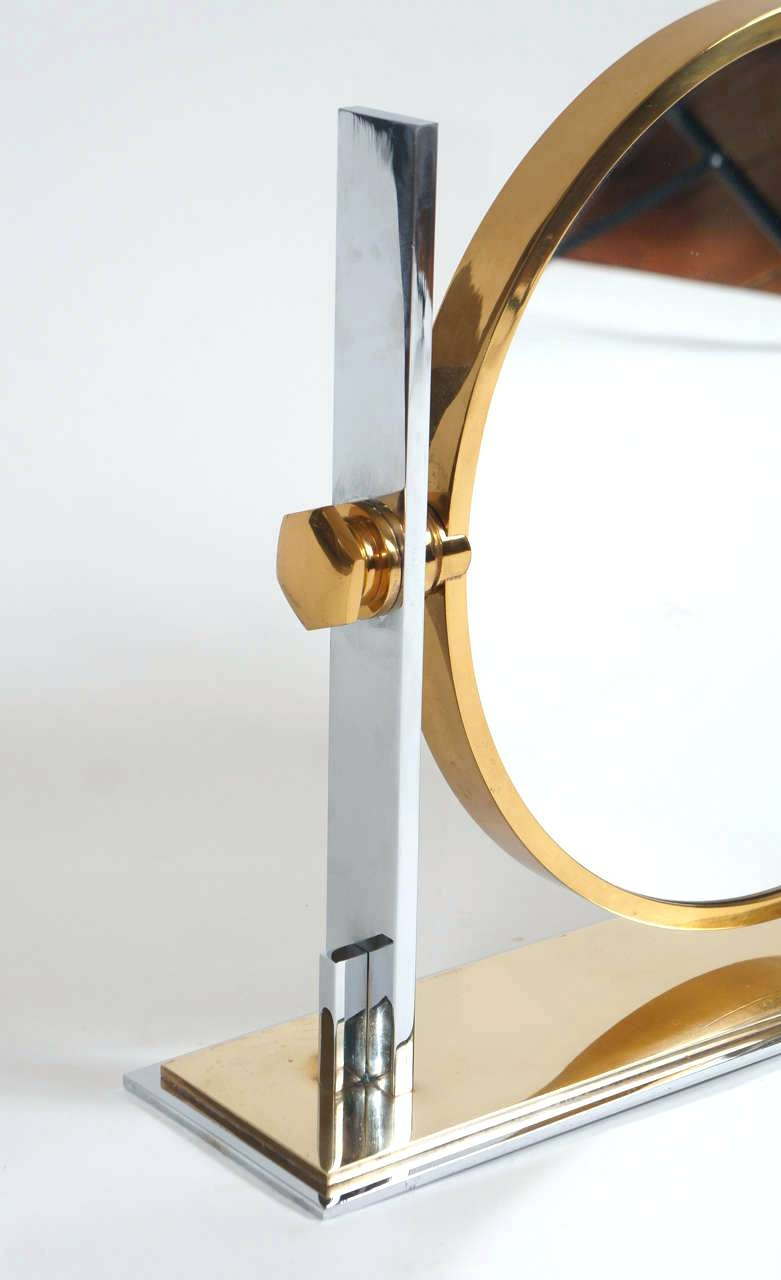 Modern Gold Mirror Large Vintage Table Top Vanity Karl Springer Intended For Gold Table Mirror (Image 10 of 15)