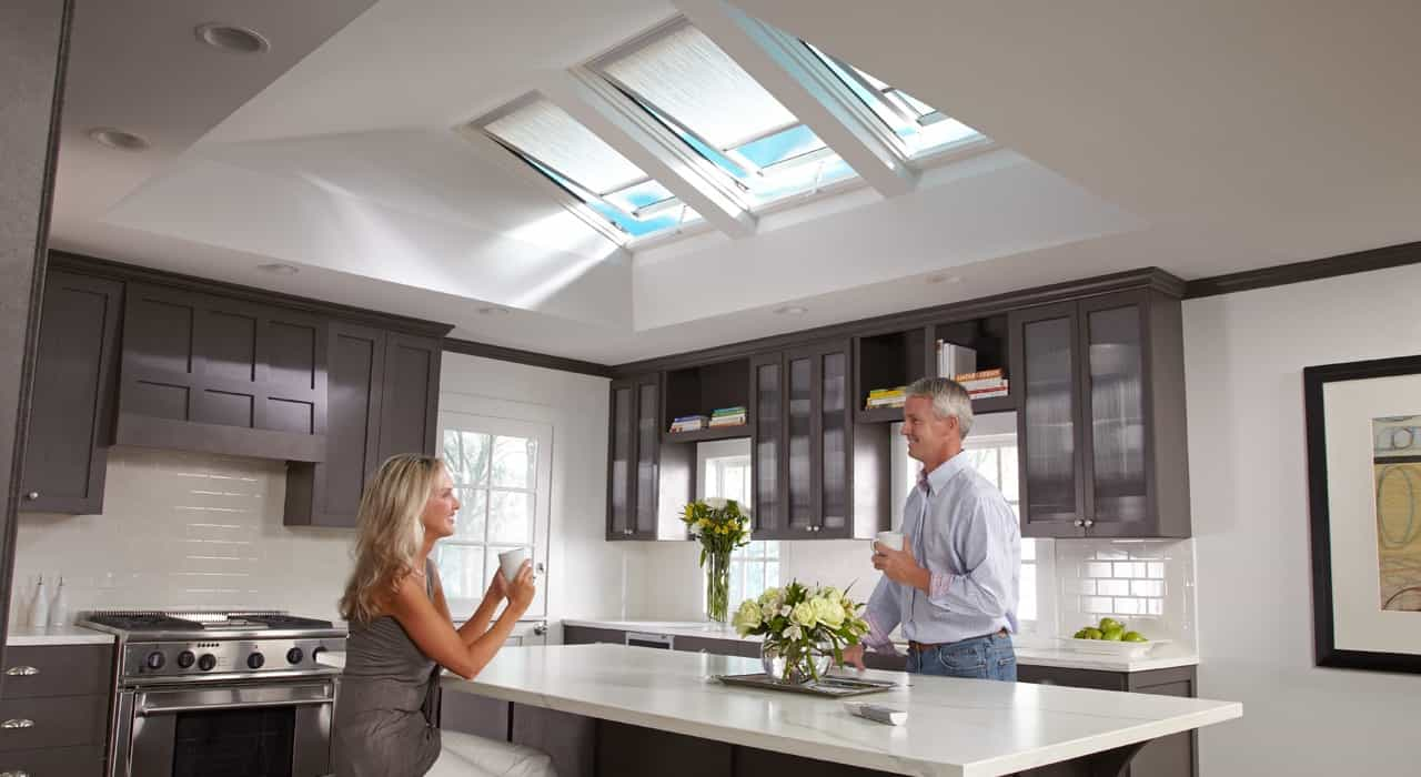 Modern Hunter Douglas Skylight Shades For Kitchen Instalation (Image 13 of 25)