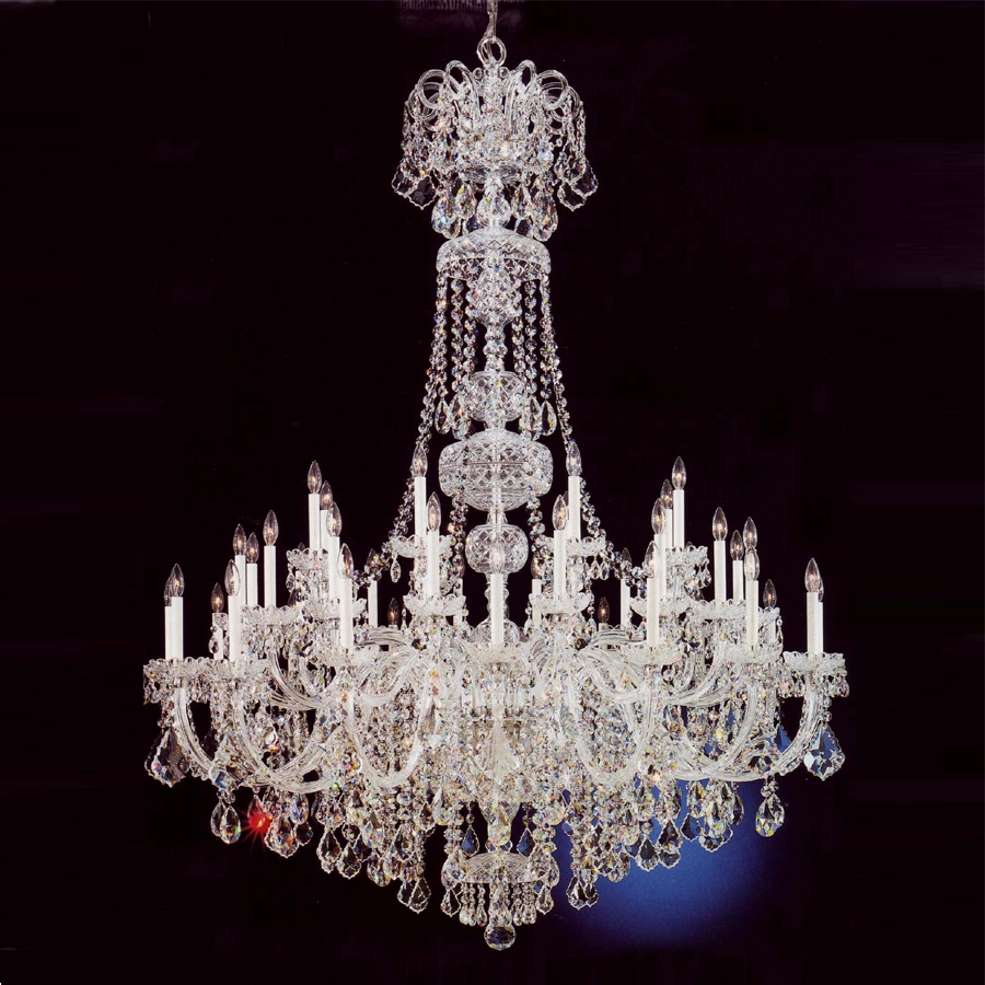 Modern Large Crystal Chandelier For Foyer Modern Big Crystal With Regard To Big Crystal Chandelier (Image 11 of 15)