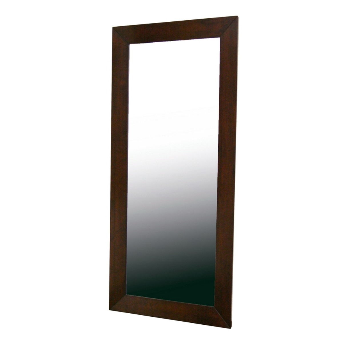 Modern Mirror With Long Brown Mirror (View 7 of 15)