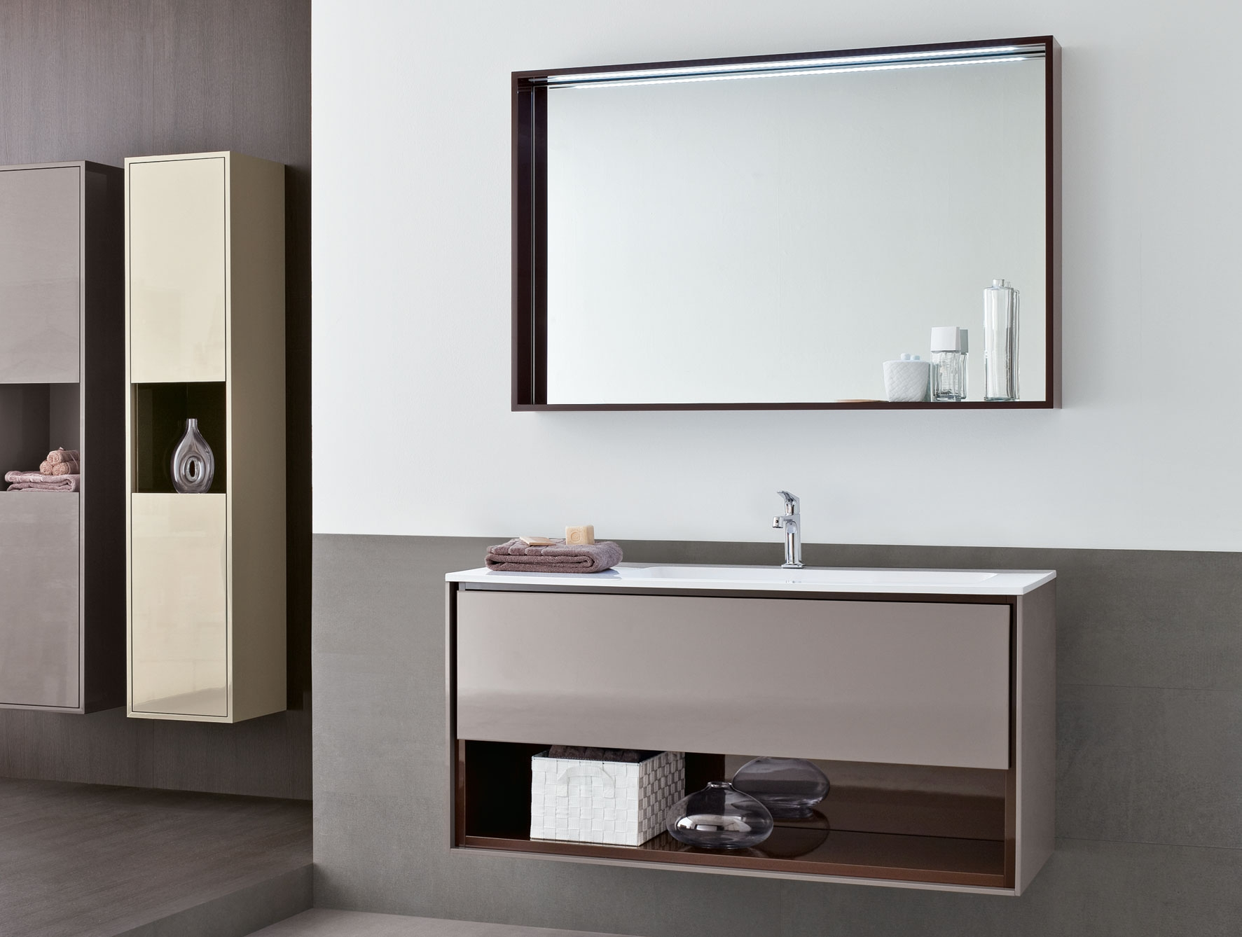 Modern Mirrors For Bathroom With Contemporary White Mirror (Image 10 of 15)