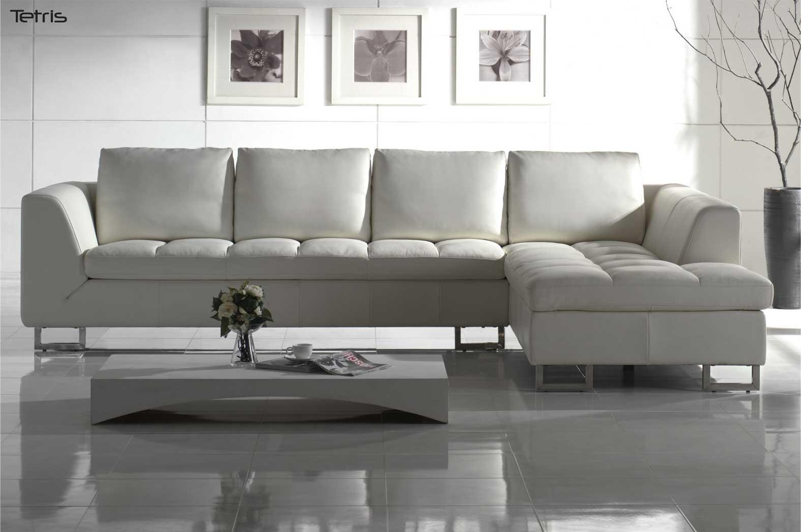 Modern Sectional Leather Sofa In Bradley Sectional Sofa (Image 13 of 15)