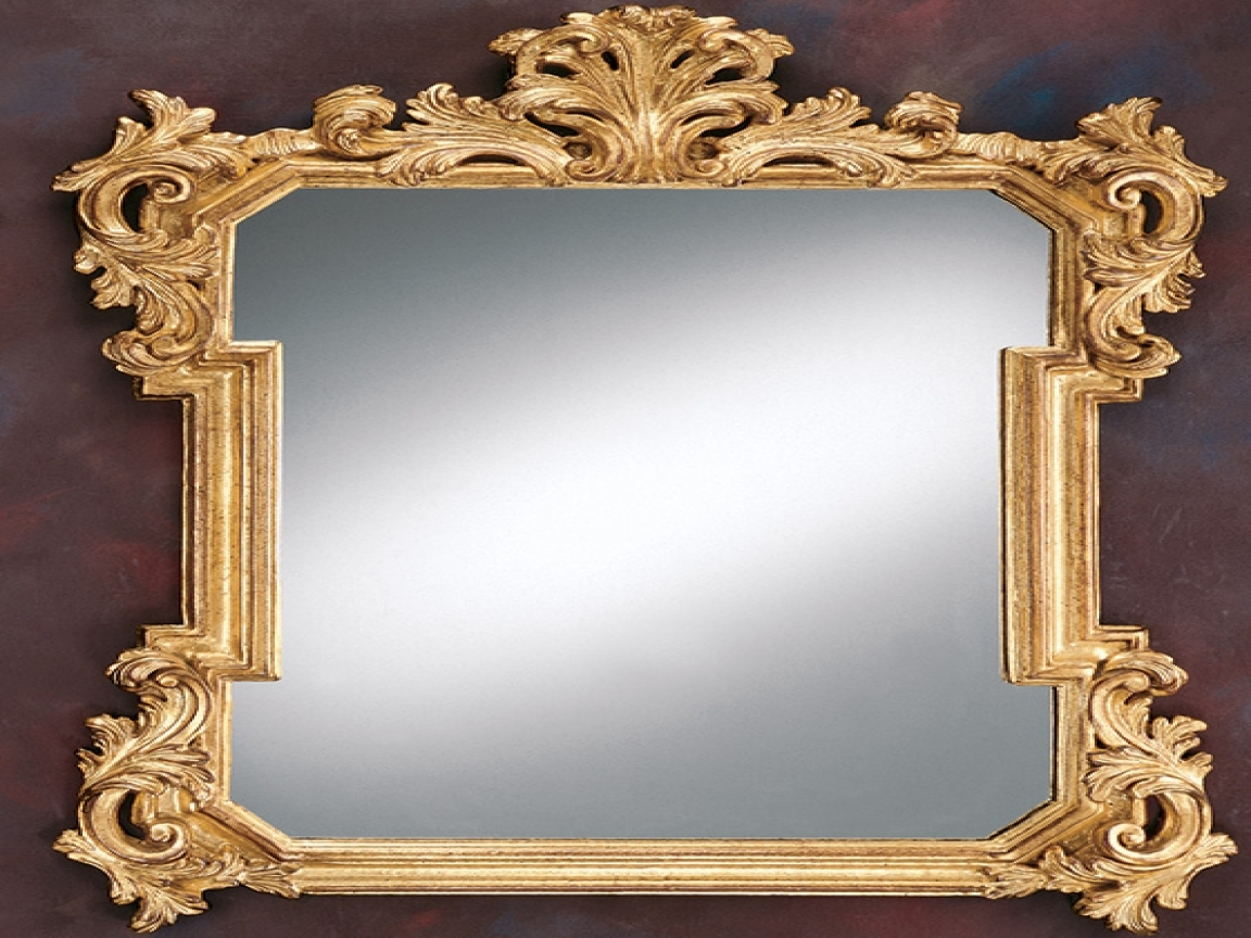 Modern Style Decorative Gold Mirrors Ornate Decorative Gold Mirror Regarding Ornamental Mirrors (Image 10 of 15)