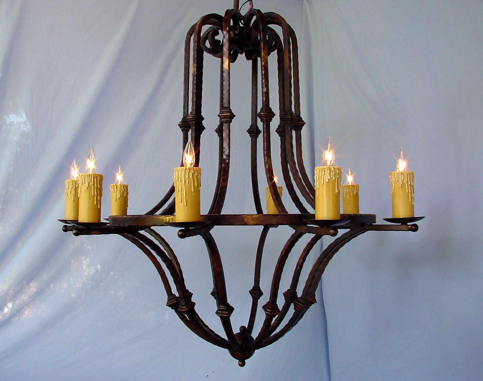 Modern Style Rustic Chandeliers Wrought Iron Castle Shield Rustic Intended For Modern Wrought Iron Chandeliers (Image 10 of 15)