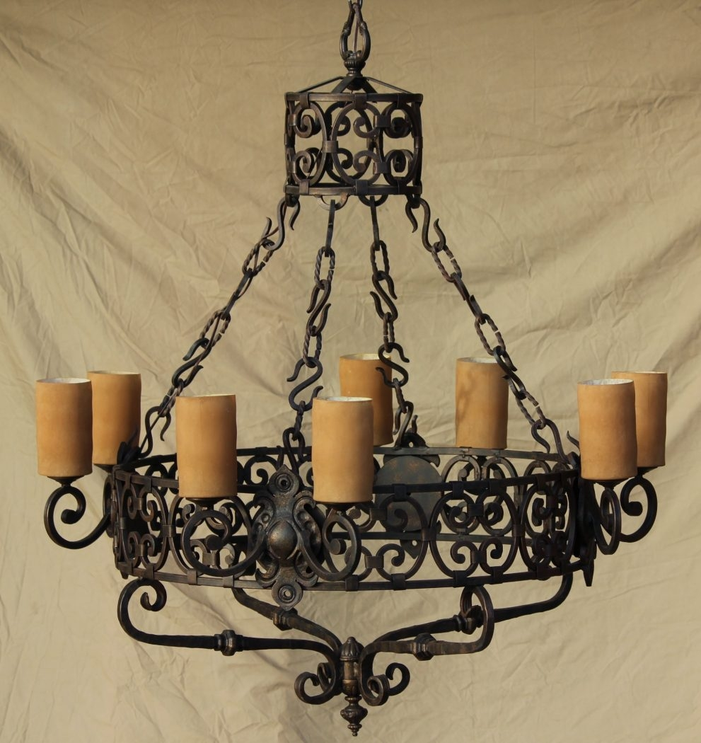 Modern Wrought Iron Chandeliers Mexican 76 Wrought Iron For Modern Wrought Iron Chandeliers (View 14 of 15)