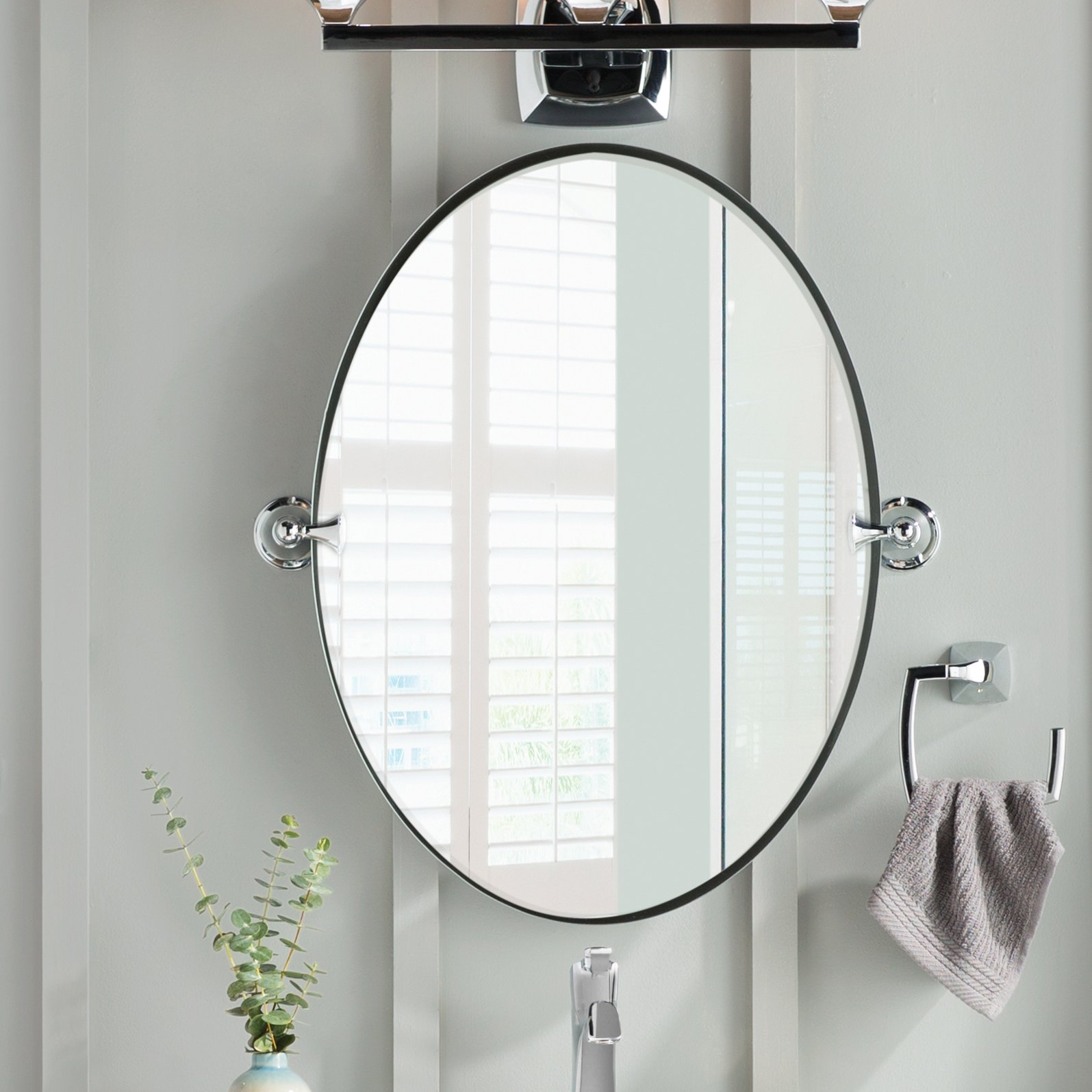 Moen Glenshire Wall Mirror Reviews Wayfair For Odd Shaped Mirrors (Image 6 of 15)