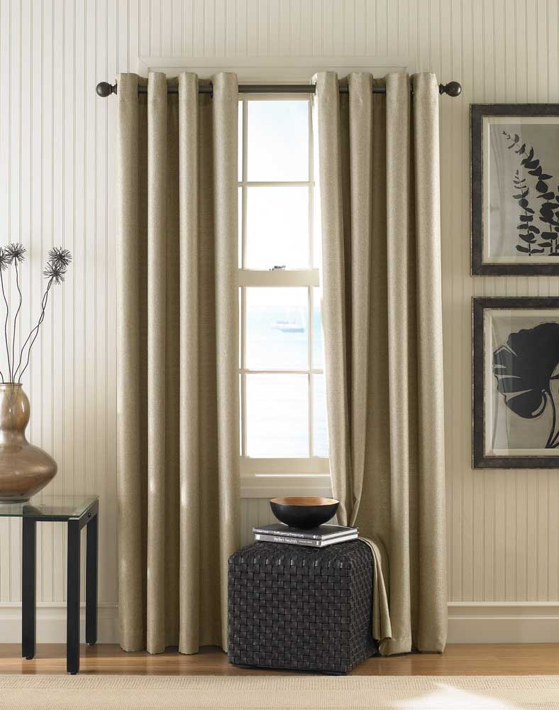 Monterey Textured Lined Grommet Drapery Curtainworks Within Textured Linen Curtains (Image 10 of 15)
