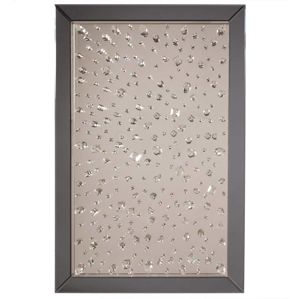 Montreal Crystal Wall Mirror Accent Mirrors Intended For Wall Mirror With Crystals (Image 10 of 15)