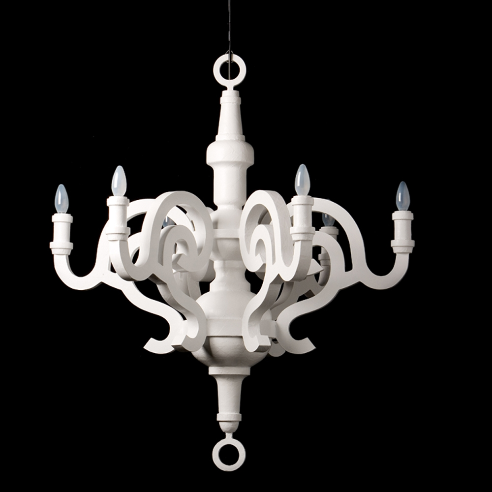 Moooi Paper Xl Chandelier White Olighting Throughout White Chandelier (Image 11 of 15)