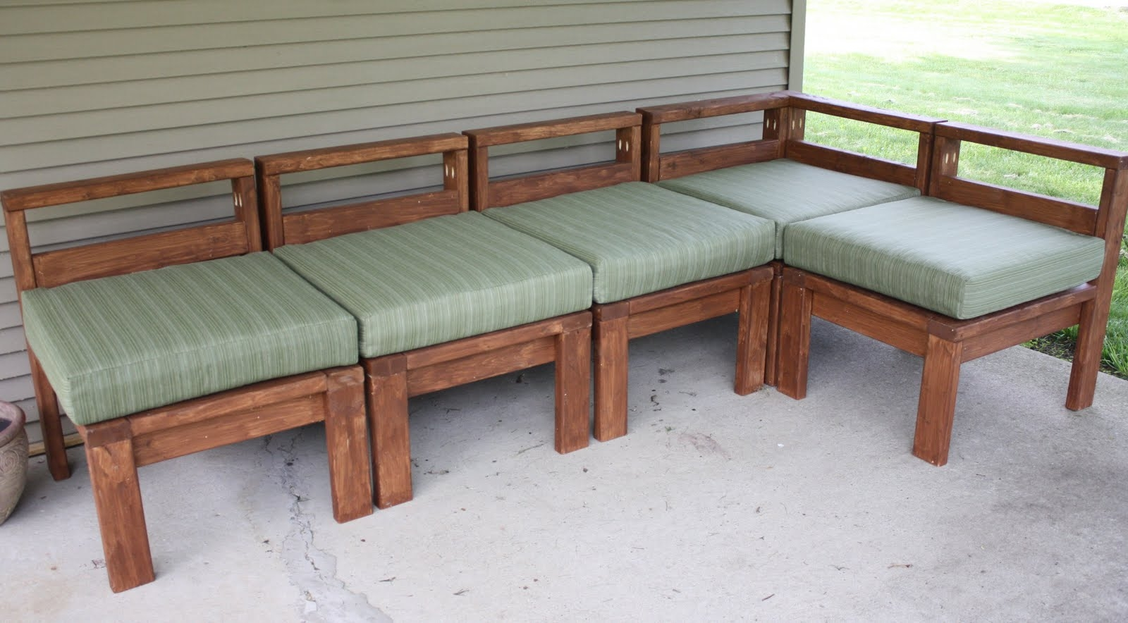 More Like Home 2×4 Outdoor Sectional With Diy Sectional Sofa (Image 14 of 15)