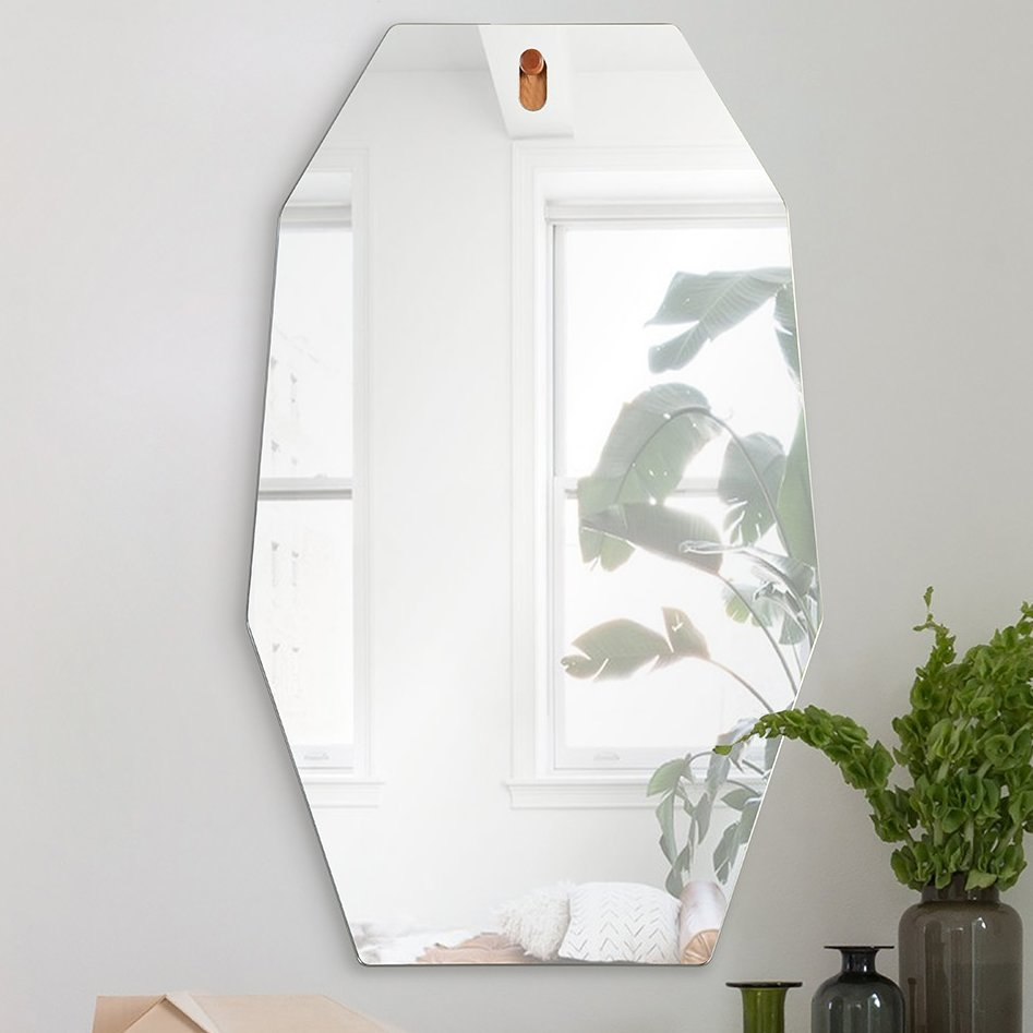 Morna Unframed Octagonal Accent Wall Mirror Allmodern Pertaining To Unframed Wall Mirror (Image 9 of 15)