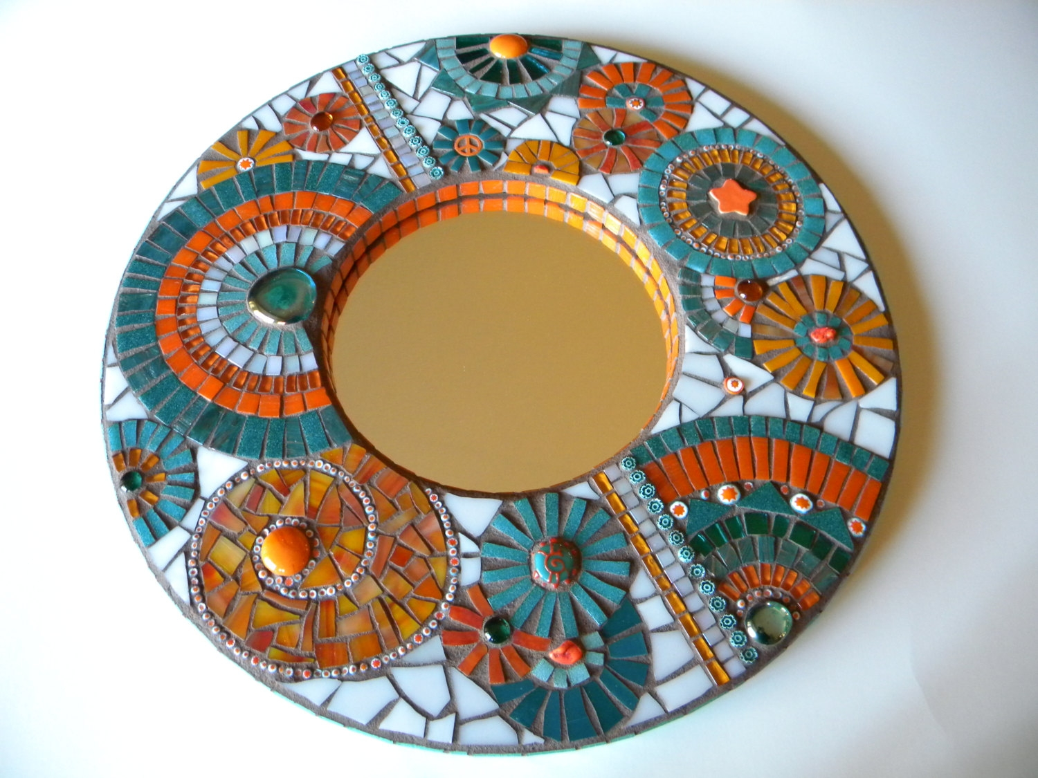 Mosaic Mirror Etsy Throughout Mosaic Mirrors For Sale (Image 10 of 15)