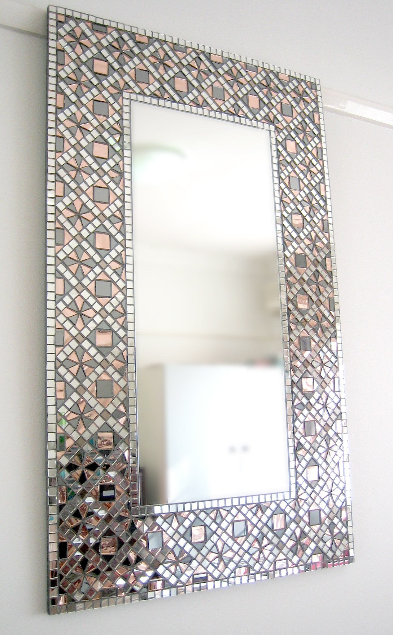 Mosaic Mirror White Forest Pinteres Throughout Mosaic Mirrors For Sale (Image 12 of 15)
