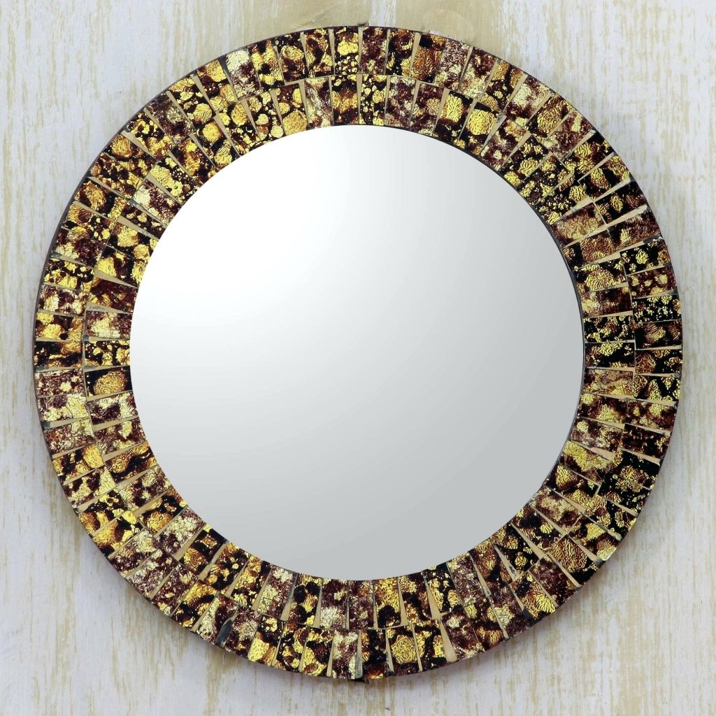 Mosaic Round Mirror Shopwiz Inside Round Mirrors For Sale (Image 8 of 15)