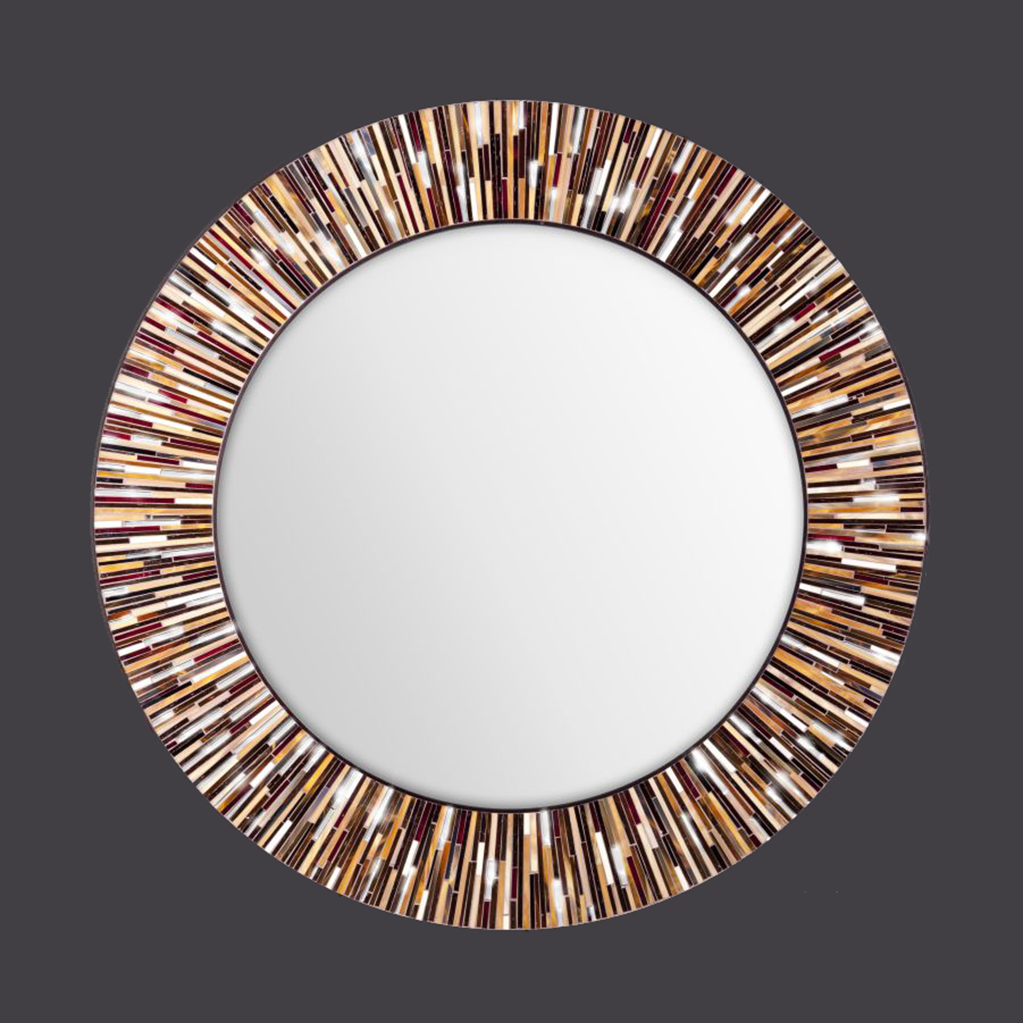 Mosaic Wall Mirrors Piaggi Intended For Large Circle Mirrors (Image 15 of 15)