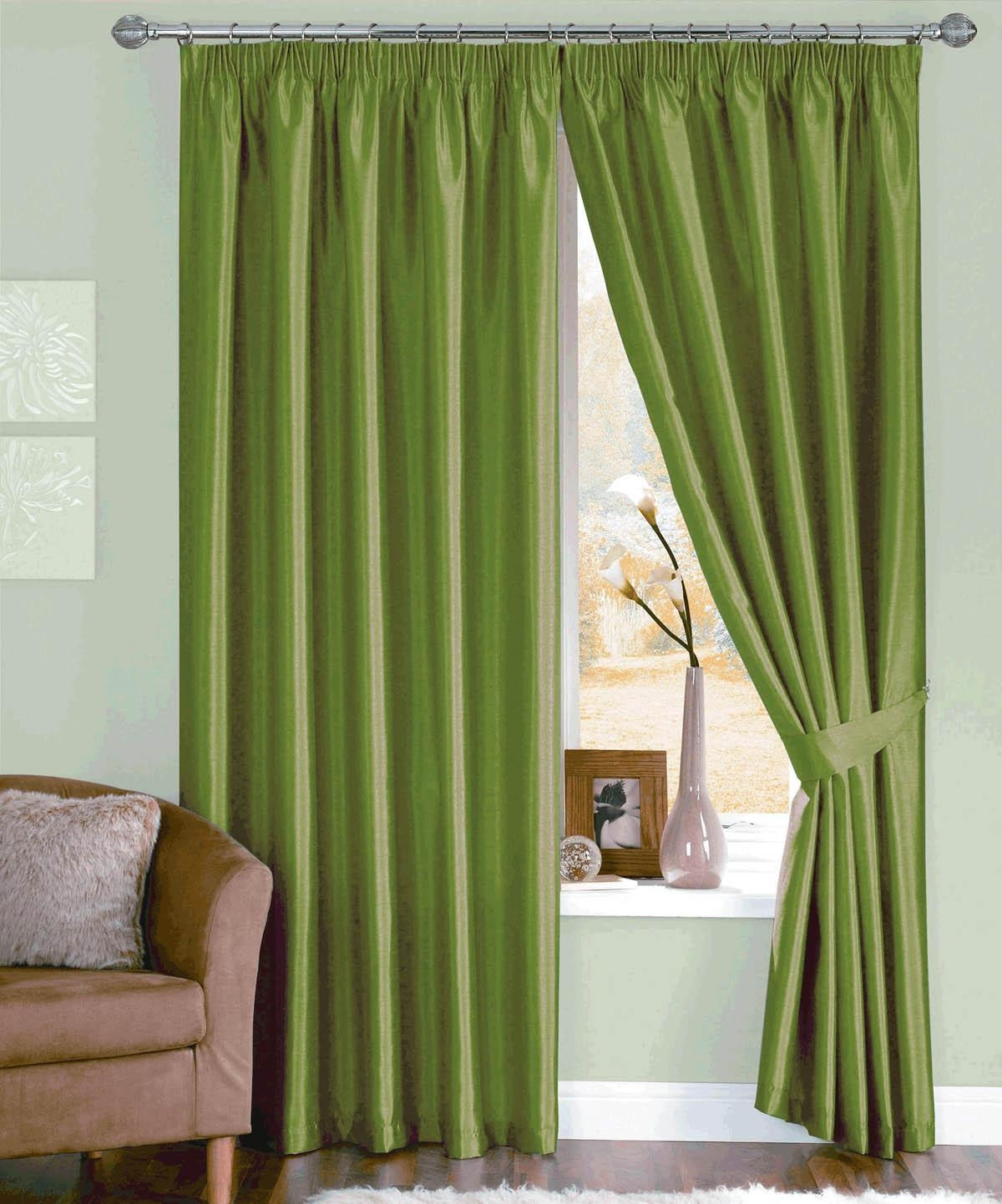 Moss Java Ready Made Curtains Free Uk Delivery Terrys Fabrics With Silk Ready Made Curtains (Image 5 of 15)