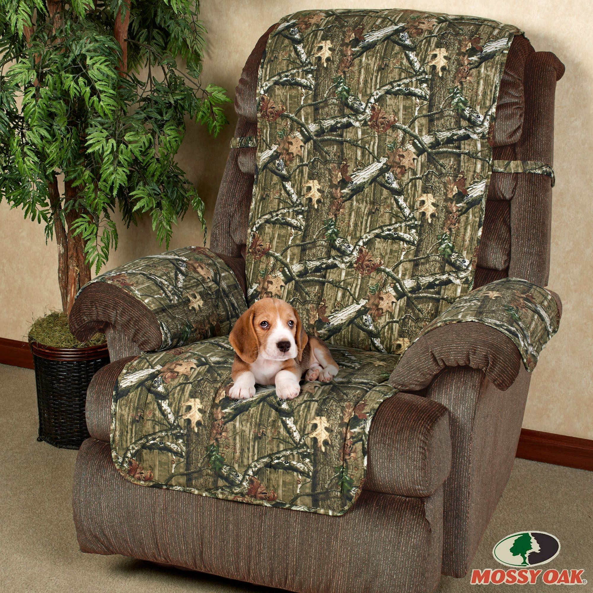Mossy Oak Break Up Infinity Camo Furniture Protectors Inside Camo Sofa Cover (Image 7 of 15)