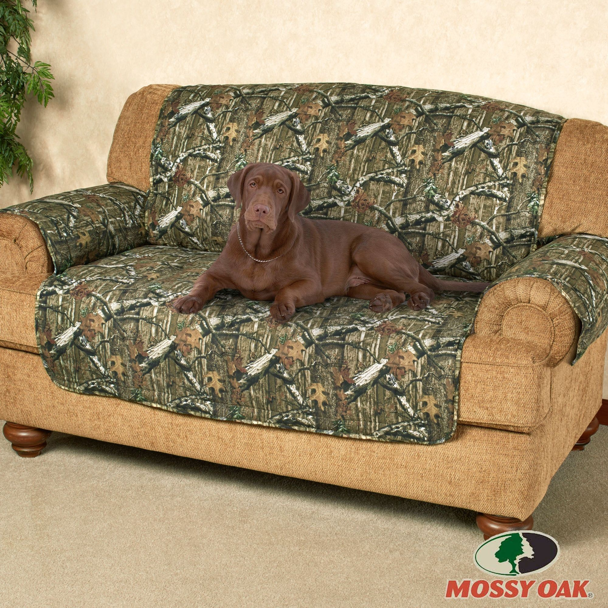 Mossy Oak Break Up Infinity Camo Furniture Protectors Intended For Camo Sofa Cover (Image 8 of 15)