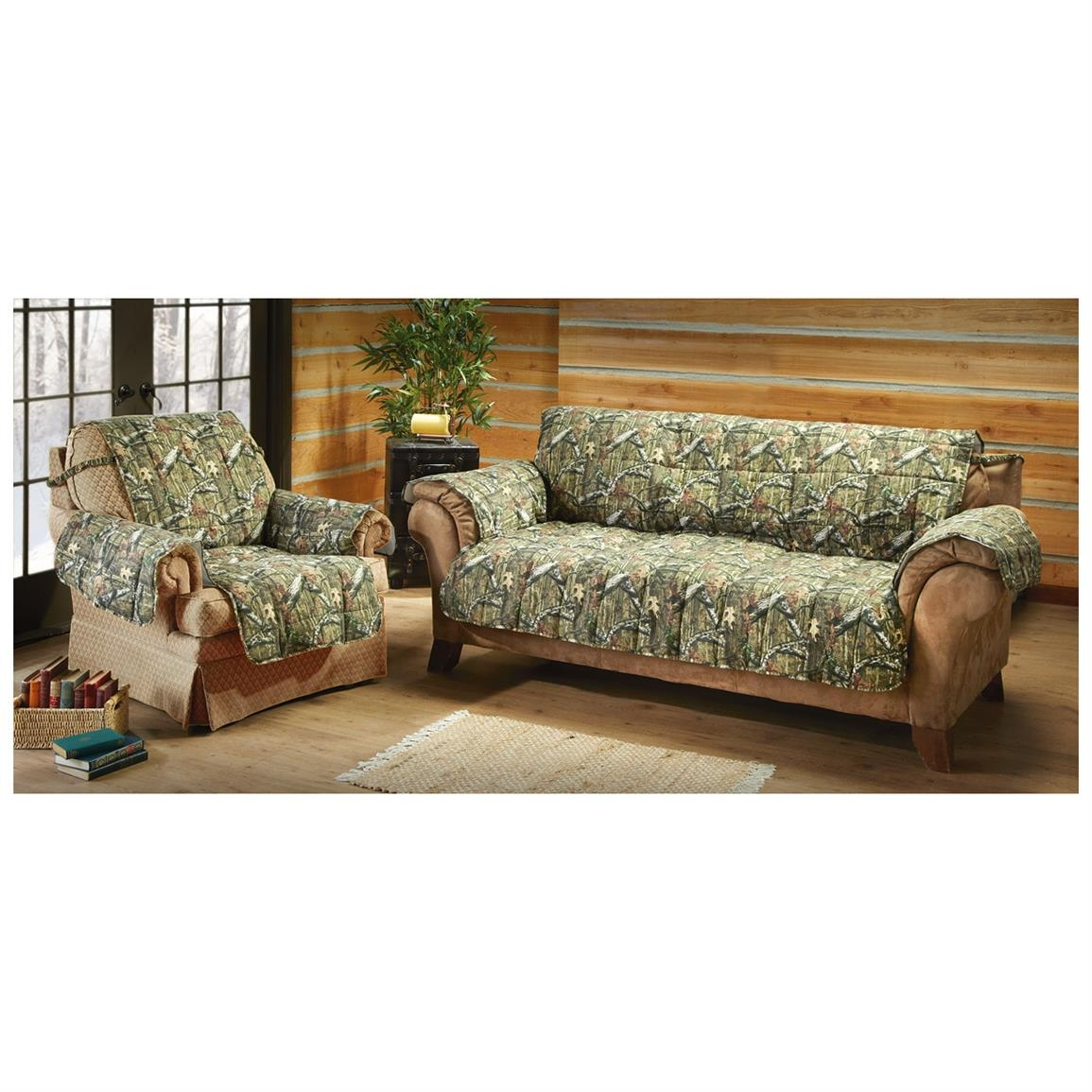 Mossy Oak Camo Furniture Covers 647980 Furniture Covers At Regarding Camo Sofa Cover (Image 12 of 15)