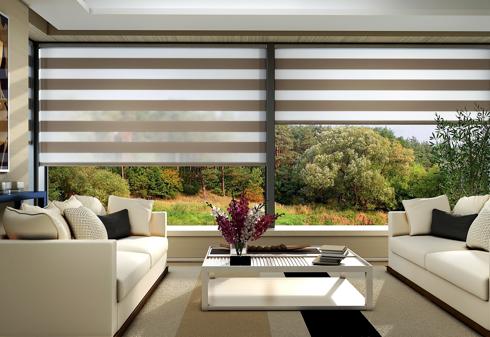 Motorized Sheer Roller Shades Bintronic For Sheer Roller Blinds (Image 7 of 15)