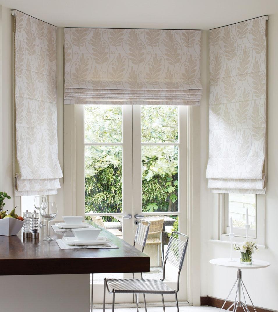 Mounted From Ceiling Roman Blinds Kitchen Inspiration Ideas Throughout Long Roman Blinds (Image 10 of 15)