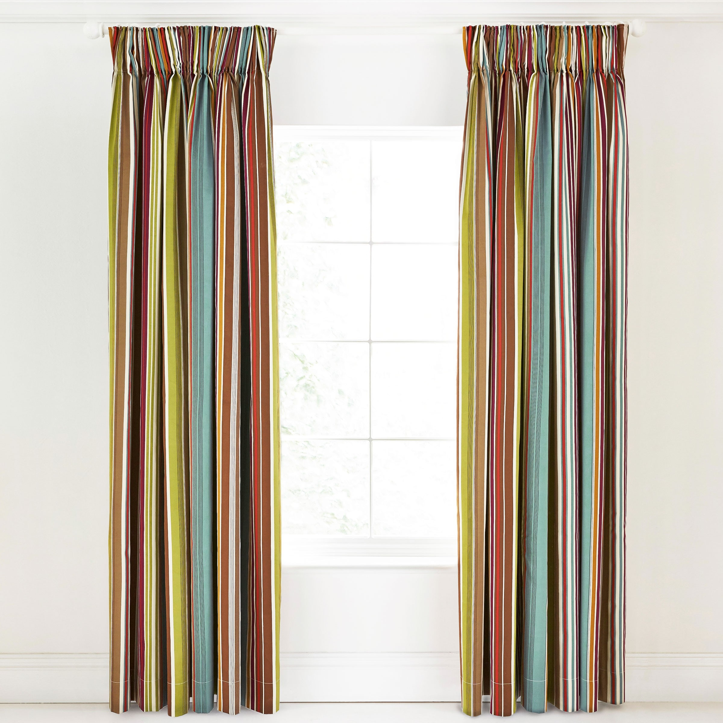 15 Collection Of Multi Coloured Striped Curtains Curtain