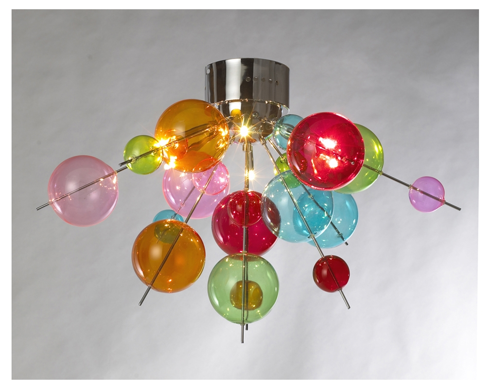 Multicoloured Ball Chandelier Light The Way Pinterest With Regard To Coloured Glass Chandelier (Image 8 of 15)