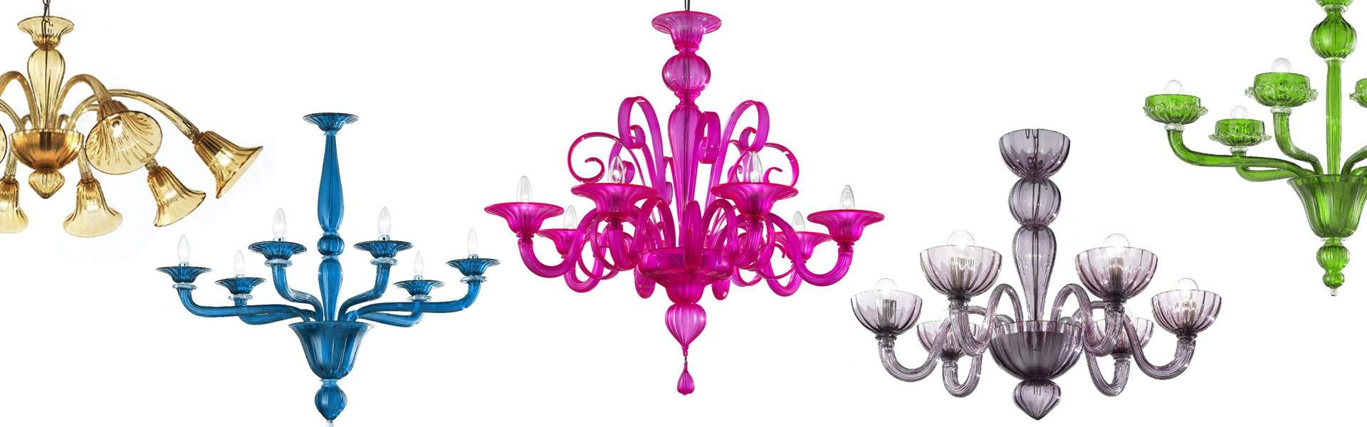 Murano Chandeliers Murano Glass Chandeliers For Sale From Italy Throughout Coloured Glass Chandelier (Image 9 of 15)