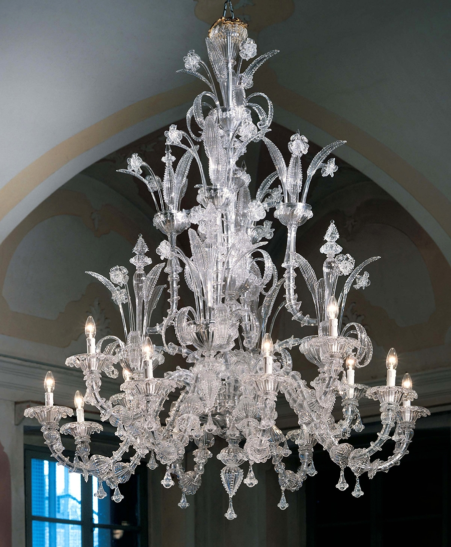 Murano Chandeliers Traditional Venetian Modern Contemporary Pertaining To Large Glass Chandelier (View 13 of 15)
