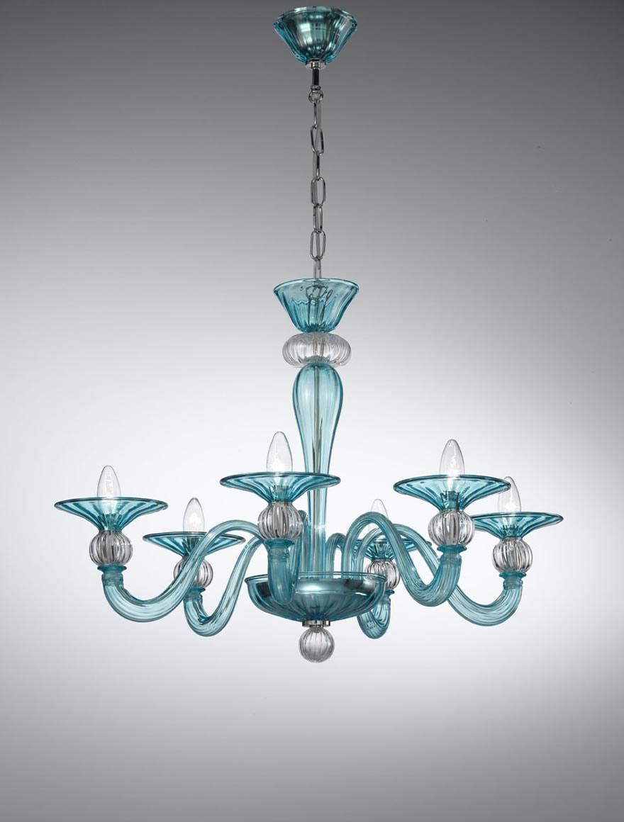 Murano Coloured Glass Chandelier 1154 Vetrilamp Murano Inside Coloured Glass Chandelier (Image 10 of 15)