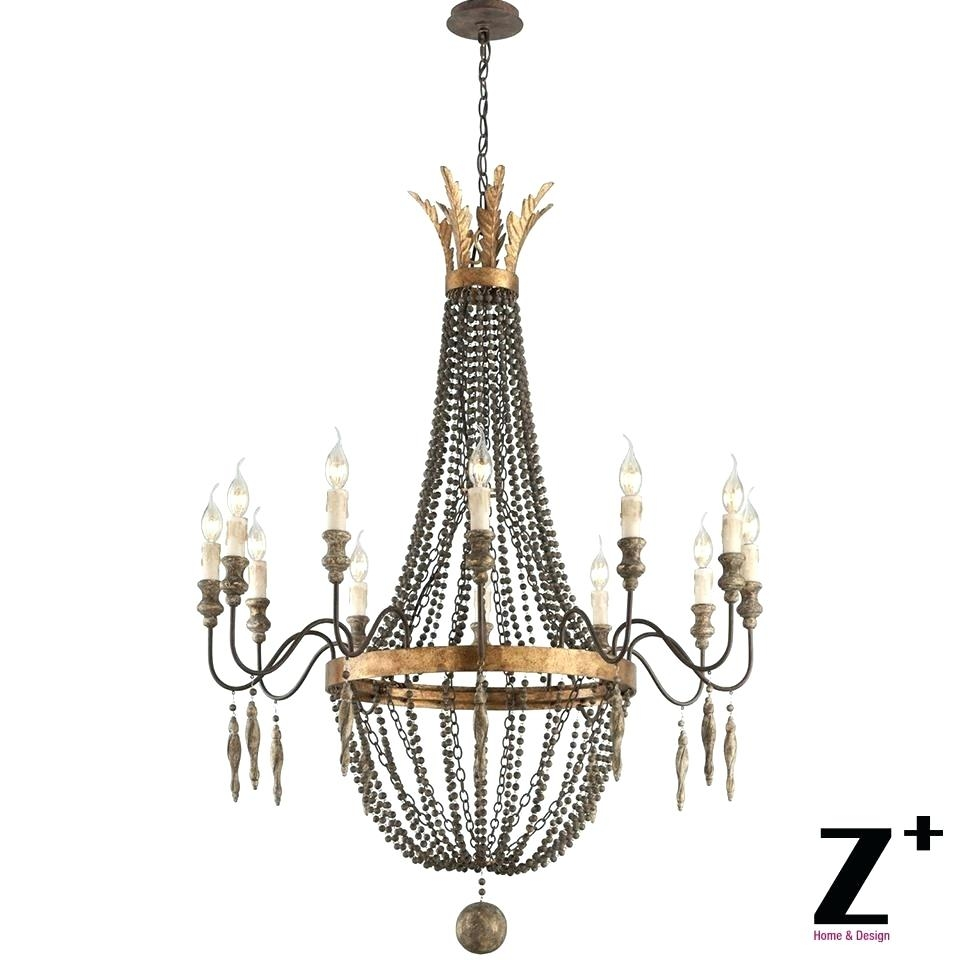 Murano Flower Chandelier Kristin 3 Light Antique White Hanging Pertaining To Murano Chandelier Replica (Image 8 of 15)