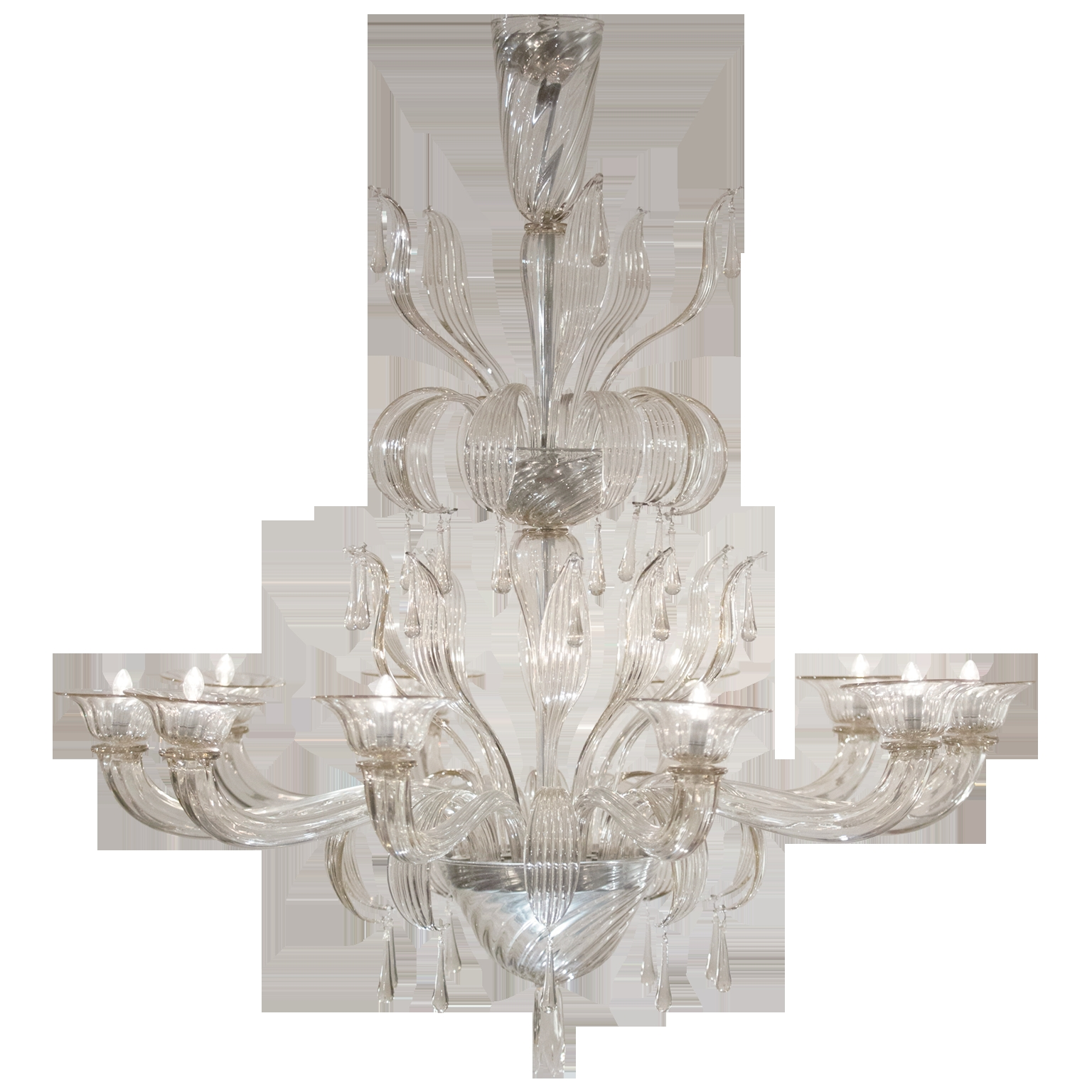 Murano Glass Chandelier Salviati Jean Marc Fray With Regard To Glass Chandelier (Image 11 of 15)