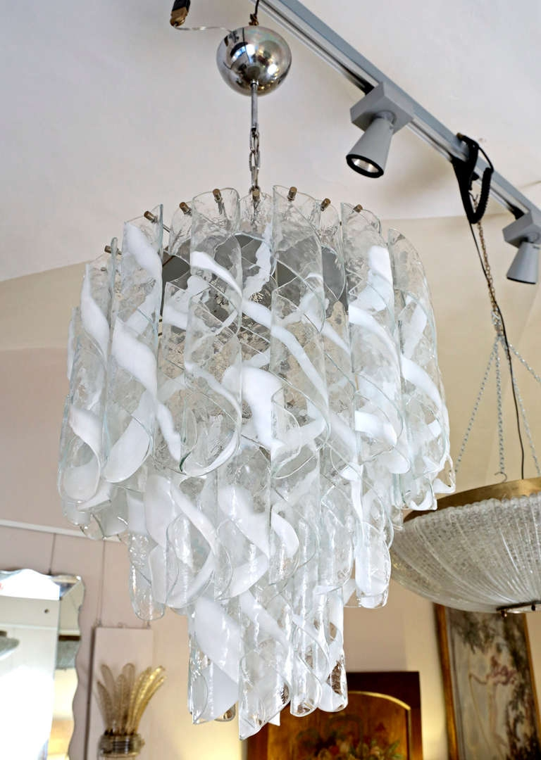 Murano Glass Mazzega Murano Chandelier 1960s At 1stdibs In Murano Chandelier Replica (Image 10 of 15)