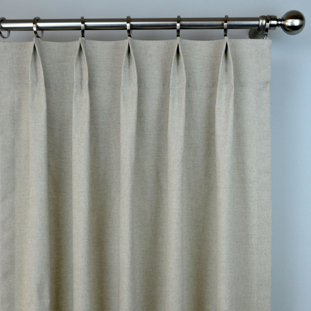 Natural Curtains Etsy For Plain Linen Curtains (Image 11 of 15)