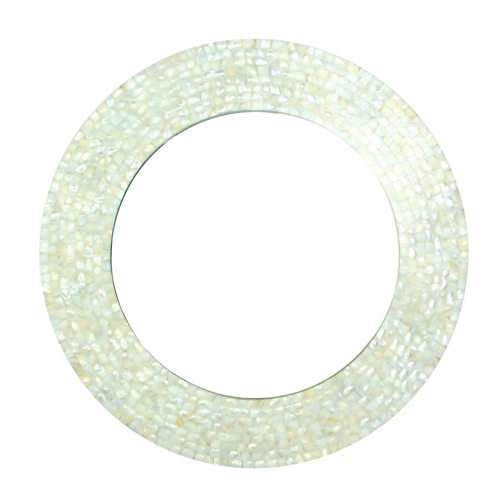 Nautical Themed Mirror Circular Mother Of Pearl Wall Mirrors Shop Intended For Mother Of Pearl Wall Mirror (View 11 of 15)