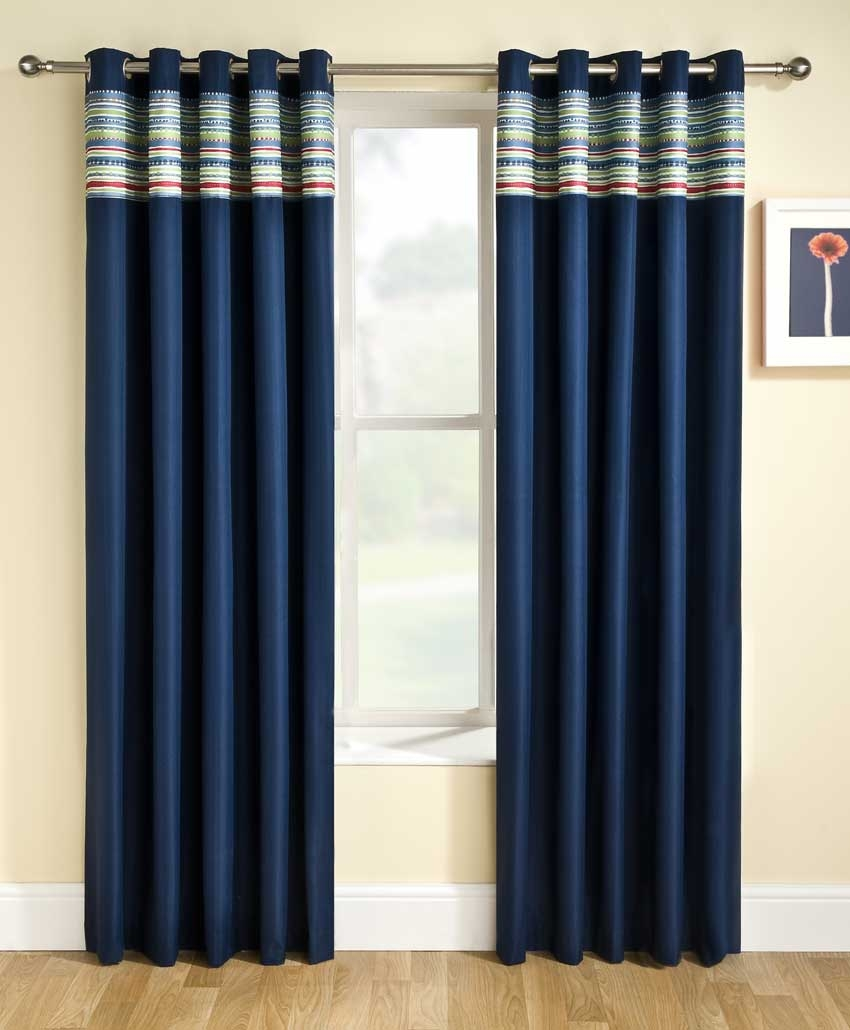Navy Blue Bedroom Curtains Regarding Blue Bedroom Curtains (Image 14 of 15)