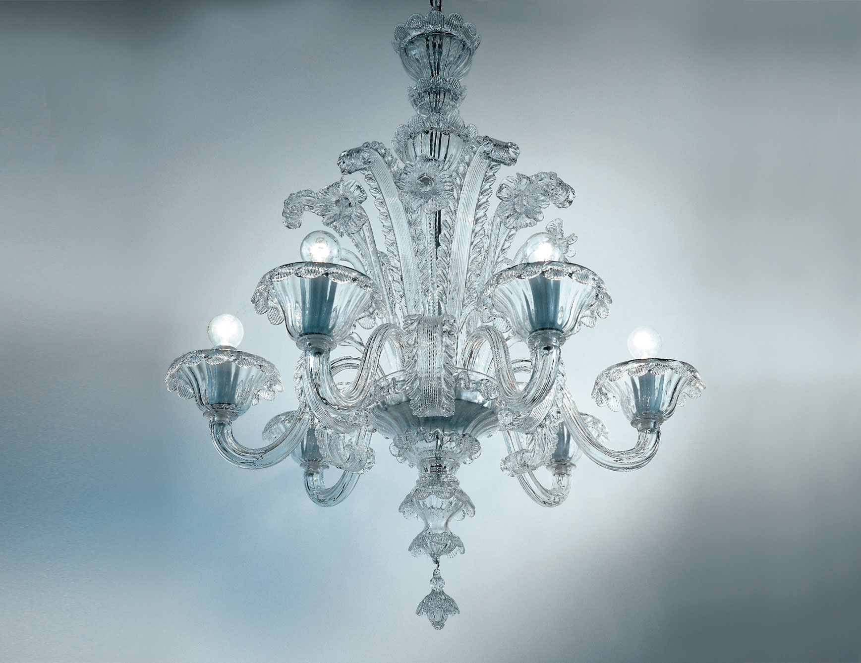 Nella Vetrina Veneziani Av Mazzega Dolfin 8004 06 Venetian Intended For Glass Chandelier (Image 13 of 15)