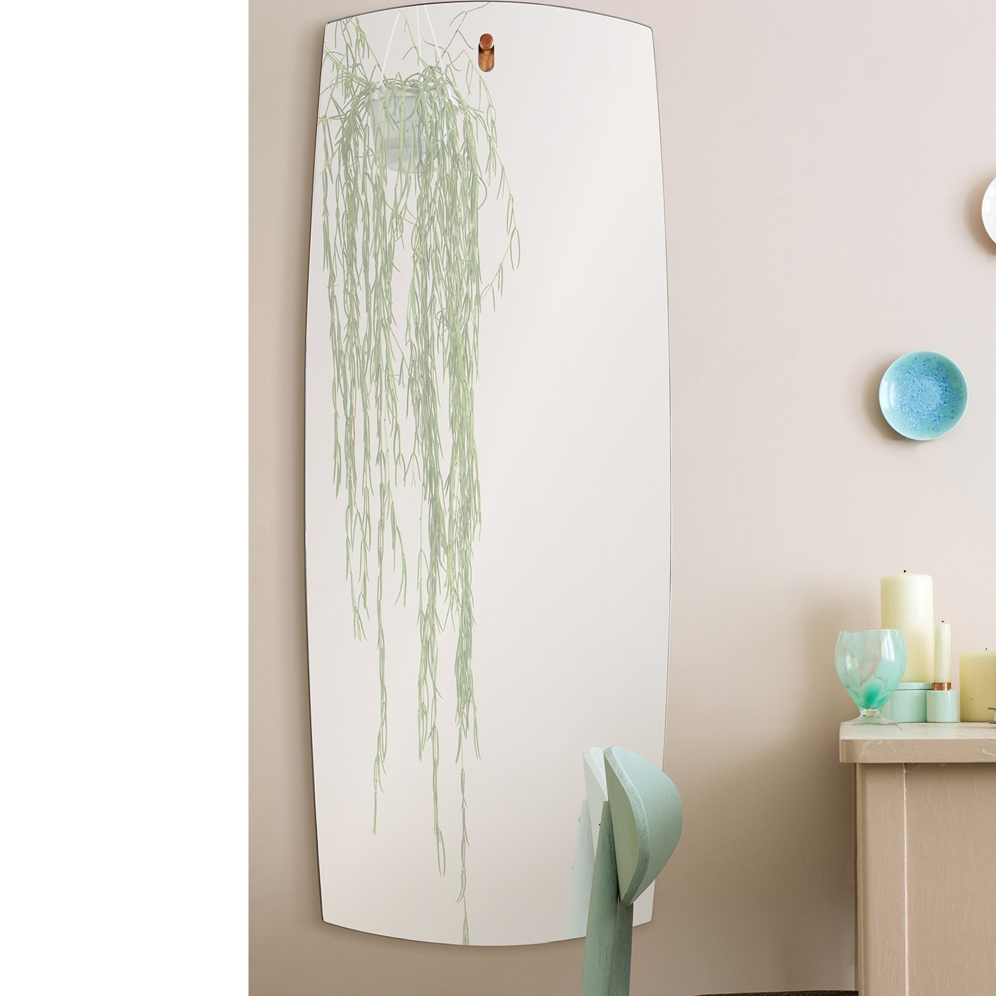 Neve Unframed Rectangular Full Length Wall Mirror Allmodern Intended For Unframed Wall Mirror (Image 10 of 15)
