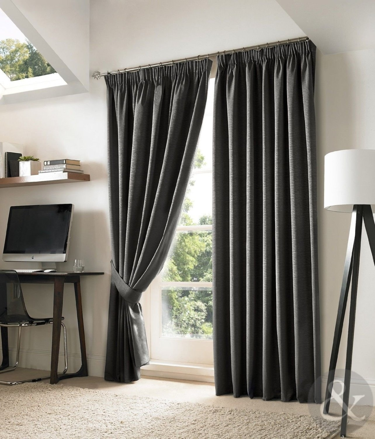 New Blackout Curtains Luxury Fully Lined Embroidered Pencil With Regard To Thick Grey Curtains (Image 12 of 15)