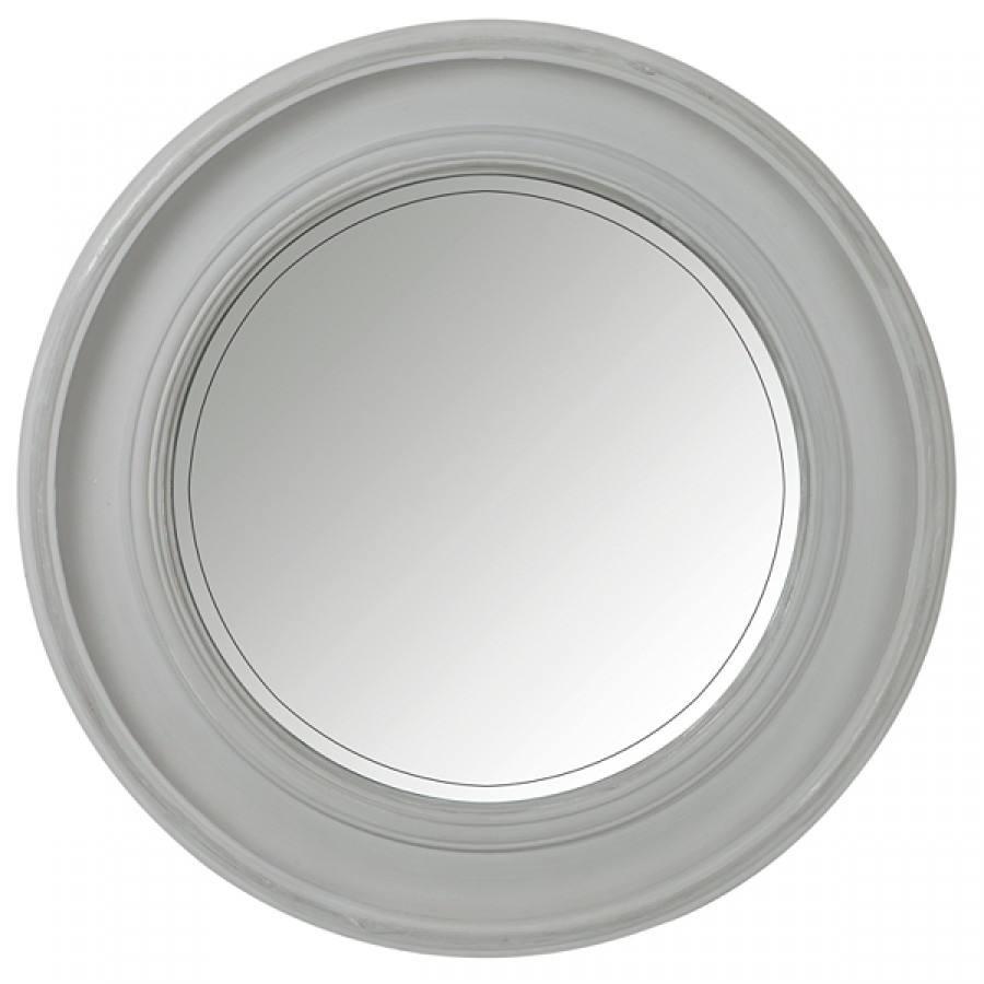 New England Mirror Grey Brissi Throughout Porthole Style Mirror (View 14 of 15)
