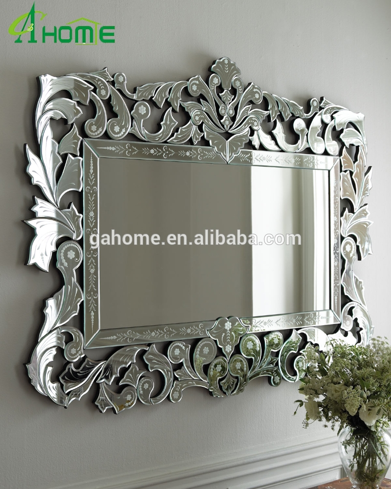 New Framed Home Decorative Wall Rectangle Venetian Mirror Buy With Rectangular Venetian Mirror (View 14 of 15)
