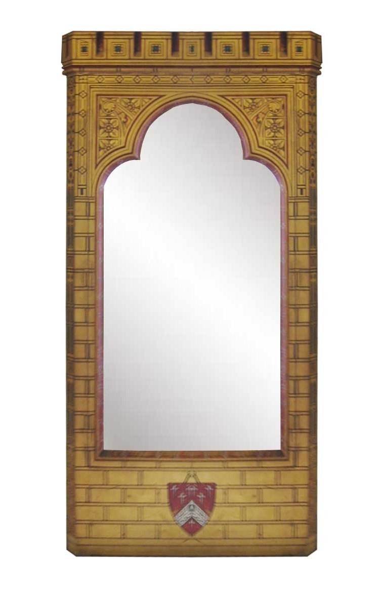New Gothic Revival Mirrors Mirror Frames Carved Painted Gilded Inside Gothic Style Mirrors (Image 10 of 15)