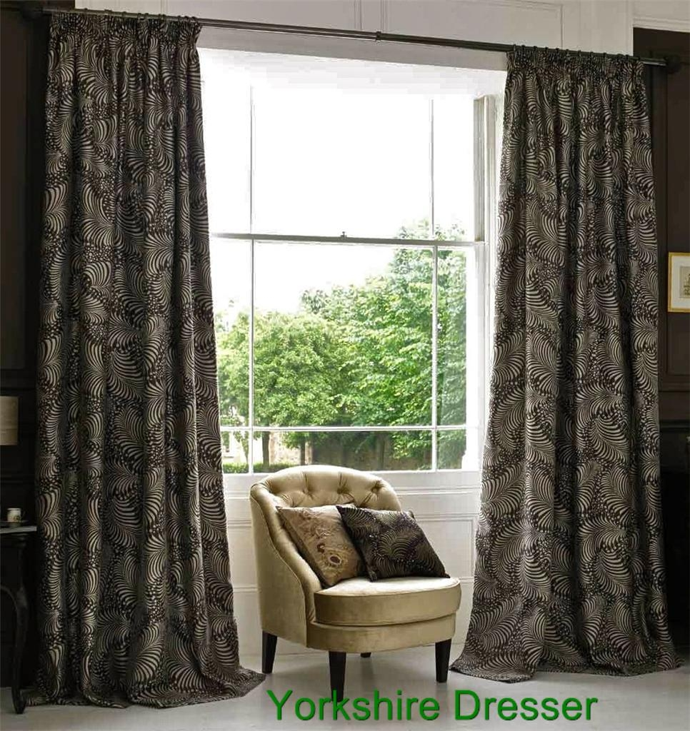New Monsoon Brown Beige Bodoni Pencil Pleat Curtains 66034x 54 Intended For Monsoon Curtains (Image 7 of 15)