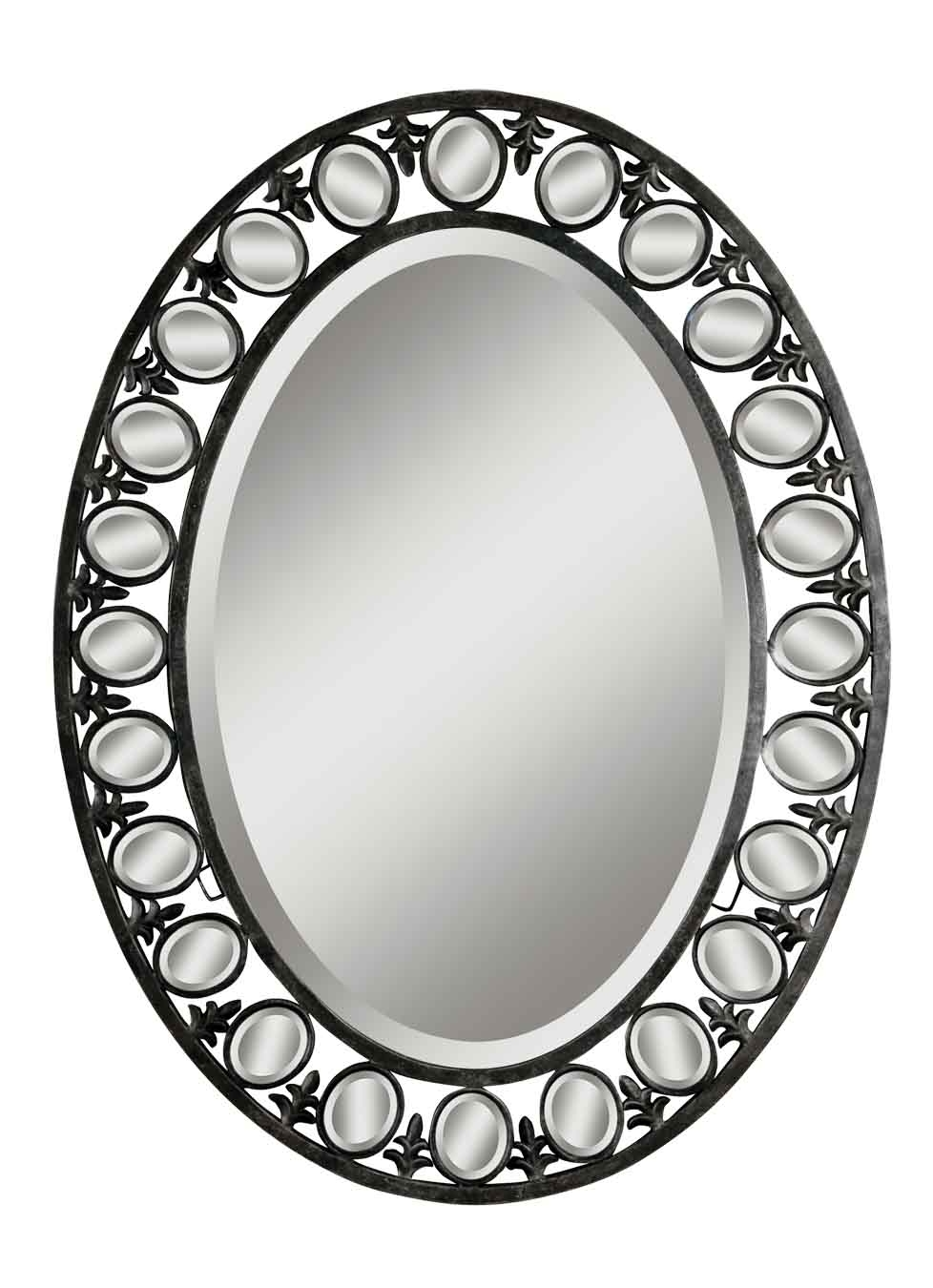 New Traditions Collection Mirror Lady Welcome To The Webs Throughout Silver Oval Mirror (Image 7 of 15)