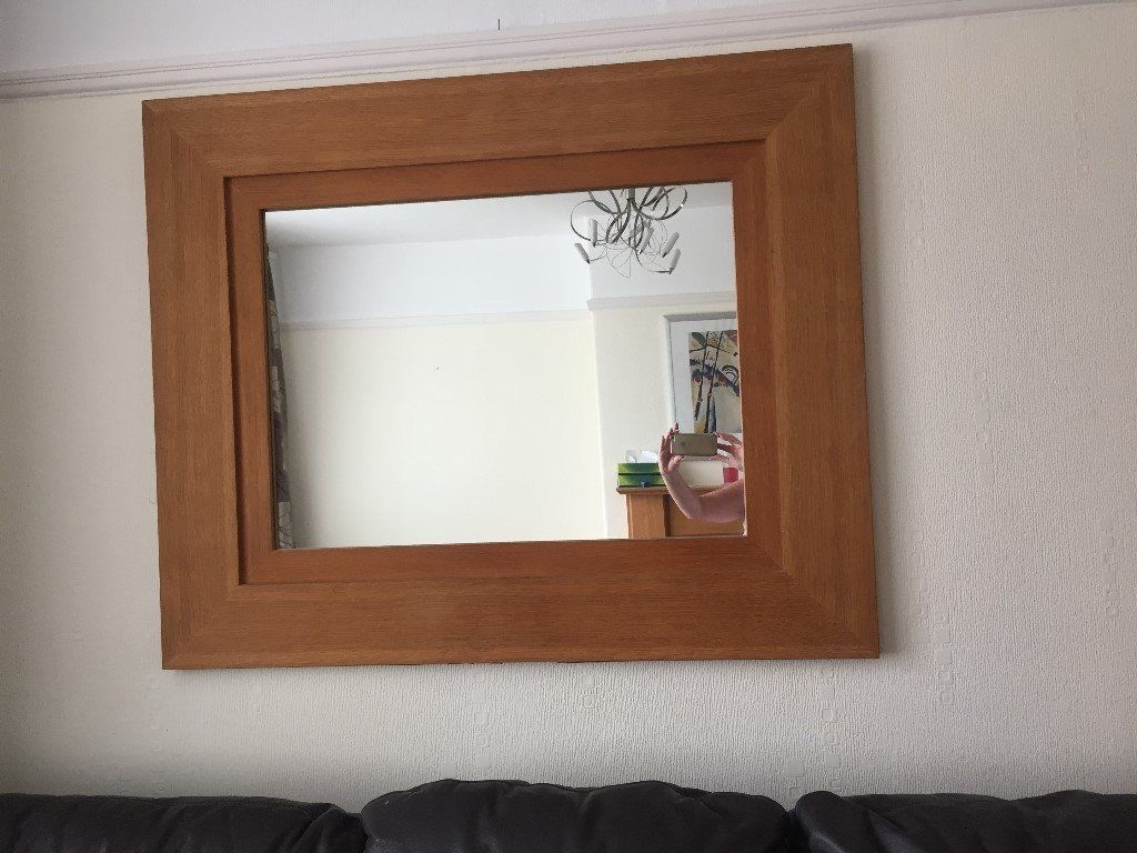 Next Large Oak Framed Mirror In Timperley Manchester Gumtree Pertaining To Large Oak Framed Mirror (Image 10 of 15)