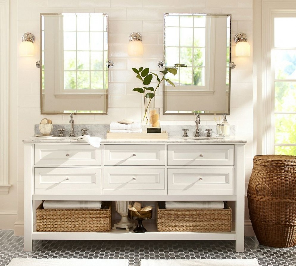 Nice Design Ideas For Brushed Nickel Bathroom Mirror Bathroom For Vintage Mirrors For Bathrooms (Image 9 of 15)