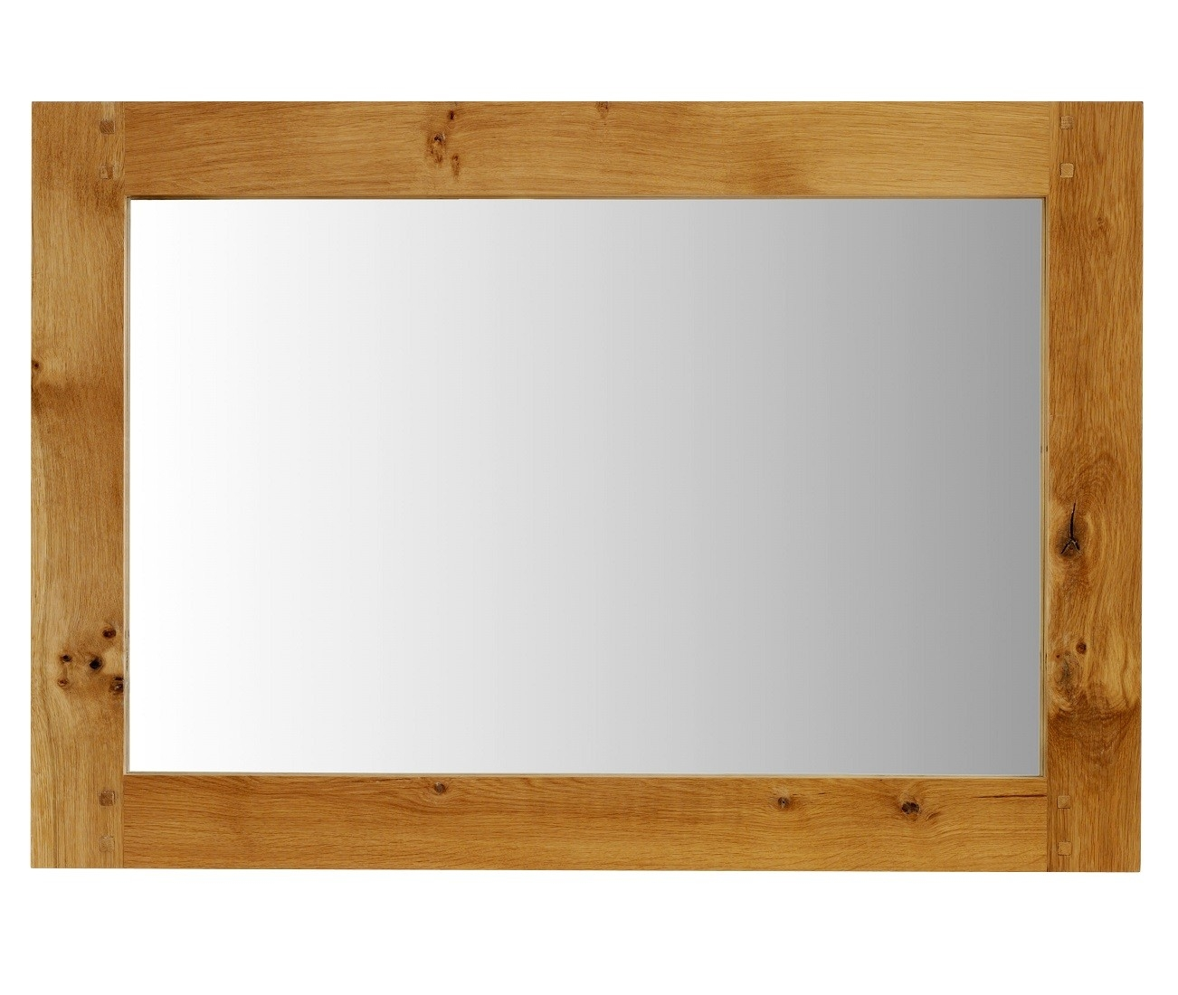 Normandy Rustic French Oak Wall Mirror Oak Furniture Uk Throughout Rustic Oak Mirror (Image 5 of 15)