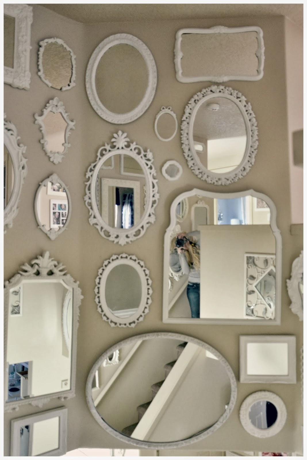 Not So Shab Shab Chic Mirror Wall Is Almost Complete Throughout Shabby Chic Mirrors For Sale (Image 12 of 15)